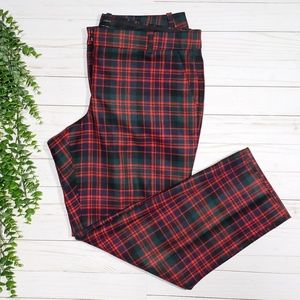 J. Crew Cafe Capri Wool Pant Red Tartan